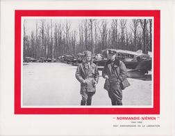 FRANCE 1969 - PLAQUETTE NORMANDIE NIÉMEN - 25 EME ANNIVERSAIRE LIBÉRATION - FDC PREMIER JOUR TIMBRE - 1927-1959 Covers & Documents