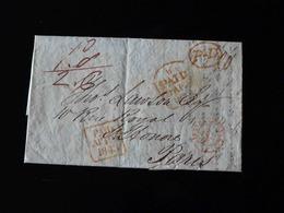 LETTRE DE DUBLIN POUR PARIS  -  1843  - - Marcophilie (Lettres)