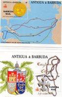 BARBUDA  1988 / Superbe 2 Blocs Surchargé Barbuda Mail  N° 126 / 27  MNH Cote 18.00  Départ Vente 5.00 Euros - Antigua Et Barbuda (1981-...)