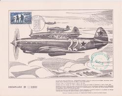 FRANCE 1969 - ANNIVERSAIRE TIMBRE NORMANDIE - NIEMEN - FDC PREMIER JOUR TIMBRE - AVION YAK - 1927-1959 Covers & Documents