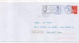 """2002--ALBERTVILLE--flamme"""" 10ème Anniversaire Des Jeux Olympiques D'Albertville"""" Sur PAP Luquet - Marcophilie (Lettres)"""