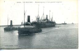 N°66164 -cpa Le Havre -remorquage D'un Grand Vapeur- - Remorqueurs
