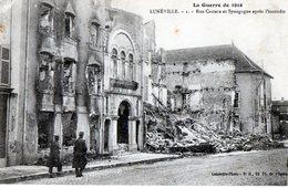 54 -  Lunéville - Cpa / Rue Castara Et Synagogue Après L'incendie - Luneville