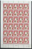 Monaco YT 744 XX / MNH En Feuille Complète De 30 Coin Daté Du 19.2.68 Deux Traits - Monaco