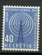Switzerland 1958 40c Telecommunications Issue #10o6 MNH - Dienstzegels