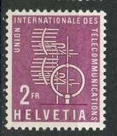 Switzerland 1958 2fr Telecommunications Issue #10o9 MNH - Dienstzegels