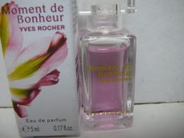 """YVES ROCHER """" MOMENT DE BONHEUR """" MINI EDP 5 ML  NEUVE  LIRE ET VOIR!! - Miniatures Womens' Fragrances (in Box)"""