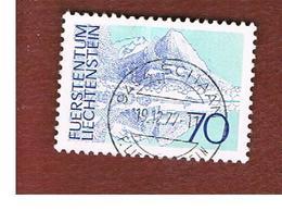 LIECHTENSTEIN -  SG 569  -  1973 LANDSCAPES: MITTAGSPITZ  - USED - Liechtenstein