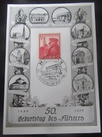 """Postkarte Gedenkkarte """"Geburtstag Des Führers"""" 1939 - Allemagne"""