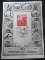 "Postkarte Gedenkkarte ""Geburtstag Des Führers"" 1939 - Briefe U. Dokumente"