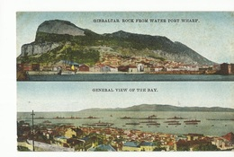 CPA, Gilbraltar , Rock From Water Port Wharf - General View Of The Bay  Ed. V. B. - Gibilterra
