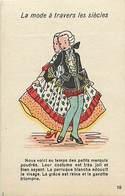 Themes Div- Ref Y926- Illustrateurs - Illustrateur -la Mode A Travers Les Siecles -marquis Poudrés -publicité Au Verso - - Fashion