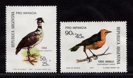 Argentinien Argentina Mi. 1142-1143 Vögel Birds Wildlife 1973 ** MNH   (9021 - Birds