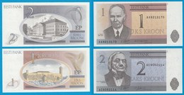 Estland - Estonia 1, 2 Krooni Banknoten 1992 UNC   (18355 - Estonie