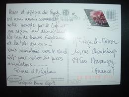 CP Pour La FRANCE TP RODOCHROSITE AIRMAIL POSTCARD OBL.MEC.20.10. 01 CAPE - Afrique Du Sud (1961-...)