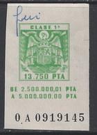 Letras De Cambio Clase 1ª. 13.750 Ptas - Fiscales