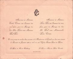 Carte D'Invitation  Pour Asister à La Bénédiction NUPTIALE En L'Eglise SAINTE-ANNE Du HAVRE 1934 - Mariage