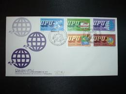 LETTRE TP UPU 2,50 + 2,50 + 10,50 + 12,00 + 12,50 OBL.23-9 79 RIO - Brésil