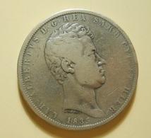Italy 5 Lire 1835 P Sardinia Silver - Regional Coins