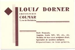 Pub Reclame Kaart Carte - Louis Dorner - ébenisterie à Colmar - Advertising