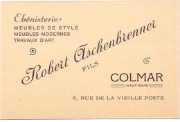Pub Reclame Kaart Carte - Meubles Robert Aschenbrenner - ébenisterie à Colmar - Advertising