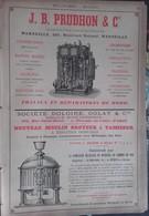 PUB 1893 - Mécaniques J. B. Prudhon Marseille, Doloire Golay Rue St Denis Paris, Nickel, Ferro-Nickel - Advertising