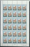 Monaco YT 747 XX / MNH En Feuille Complète De 30 Coin Daté Du 28.2.68 Sans Trait - Monaco