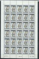 Monaco YT 748 XX / MNH En Feuille Complète De 30 Coin Daté Du 12.3.68 Sans Trait - Monaco
