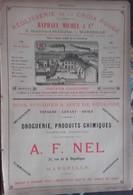 PUB 1893 - Réglisse Croix-Rouge Bd St Charles, A. F. NEL Rue République Marseille, Rhum J. Ramell P. Bardinet, Lafond 76 - Advertising