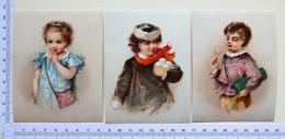 3 CHROMOS LITHOGRAPHIES..... ENFANTS - Vieux Papiers