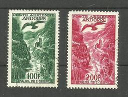 Andorre Français Poste Aérienne N°2 Cote 11 Euros (n°3 Légèrement Fendu, Offert) - Poste Aérienne