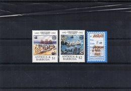 BARBUDA  1992 / Superbe  Séris De 2 Valeur Surchargé Barbuda Mail  N° 1252 / 53  MNH Cote 8.00  Départ Vente 2.00 Euros - Antigua Y Barbuda (1981-...)