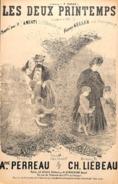 Les Deux Printemps, Souvenir De 1870-71, Partition Ancienne, Petit Format, Couverture Illustrée Gastl. - Scores & Partitions