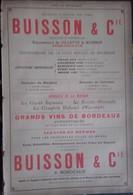 PUB 1893 - Deux F - Vins De Bordeaux Buisson, Douat, A. Vegua, E. Giraud, H. St-Genis, H. De Jaurias, E. De Lavauxmartin - Advertising