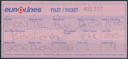 Eurolines Estonia 1990s / One-way Bus Ticket Tallinn To Riga, Latvia - Europe