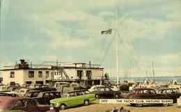 Hampshire, HAYLING ISLAND, The Yacht Club, Cars (1960) Postcard - England