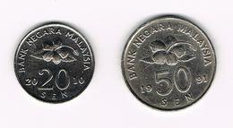 &   MALAYSIA  20 En 50  SEN 2010/1991 - Malaysie