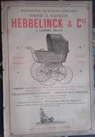 PUB 1893 - Voiture Enfant Hebbelinck Lomme 59 Nord, Wagons Chemin De Fer SNCF Carel Le Mans 72 Sarthe - Advertising