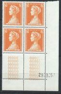 Monaco YT 486 XX / MNH Coin Daté Du 29.3.57 Un Trait - Monaco