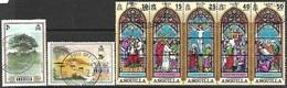 Anguilla  1972   Sc#144a, 146, 154 Used  2016 Scott Value $5.40 - Anguilla (1968-...)