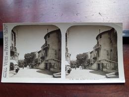 ANTIBES : Le Cours Masséna - S. 95 - 3959 ( Maison De La Bonne Presse VUES De FRANCE ) Stereo Photo ! - Photos Stéréoscopiques