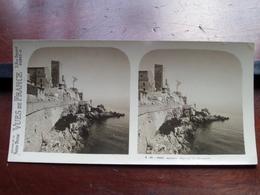 ANTIBES : Vue Sur Les Remparts - S. 95 - 3960 ( Maison De La Bonne Presse VUES De FRANCE ) Stereo Photo ! - Photos Stéréoscopiques