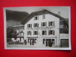 CPSM PHOTO GLACEE  Haute Savoie  LA CHAPELLE D'ABONDANCE  HOTEL  AU MONT DES CORNETTES Animée En Petit   NON VOYAGEE - La Chapelle-d'Abondance