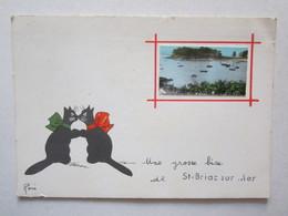 35 Ile Et Vilaine Une Grosse Bise De Saint Briac Sur Mer Illustrateur René Chat - Saint-Briac