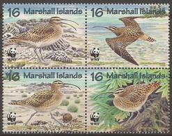 ILES MARSHALL 1997 Y&T 794 à 797  Neufs**  Oiseau : Le Courlis D'Alaska / WWF - Ongebruikt