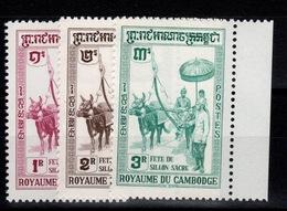 Cambodge - YV 89 à 91 N** Complete Fete Du Sillon Sacré - Cambodge