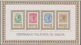 Malta 1985 100Y Postage Stamps M/s ** Mnh  (41306) - Malta