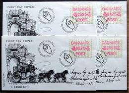 Denmark 1990  ATM/Frama Labels  MiNr.1    FDC  ( Lot  6548 ) FOGHS COVER - FDC