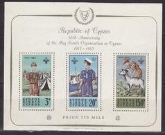 CYPRUS - CIPRUS - CIPRO 1963 BOY SCOUT - SCOUTISM - Mi Bl. 1 - MNH** VF - Cyprus (Republic)