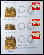 Denmark 1998  ATM/Frama Labels  MiNr.5-7   FDC  ( Lot  6548 ) FOGHS COVER - FDC